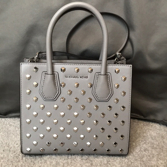 75c7ca1803ca Michael Kors Bags | Studded Mercer Crossbody Bag | Poshmark